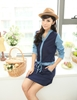 Picture of Denim Sleeve stitching dress