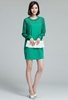 Picture of Chiffon Sleeve Elegant Dress with Pockets