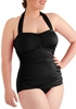 Picture of Plus size one piece tie neck swimwear