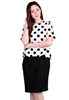 Picture of Plus Size Wave Border Polka Dot Top