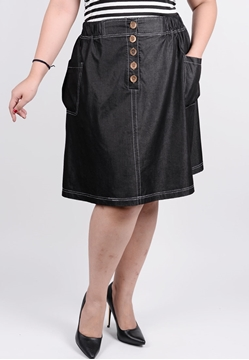 Picture of Front opening skirt with pockets