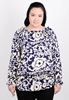 Picture of Lotus Leaf Neck 3/4 Sleeve Top