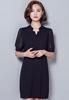 Picture of V Neck Short Sleeve Chiffon Dress