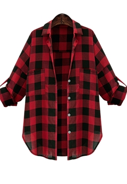 Picture of Foldable Long Sleeve Lattice Shirt