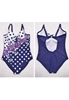 Picture of Plus Size Polka Dot Prints Swimsuit