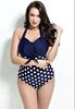 Picture of Plus Size Polka Dot Halter Swimwear