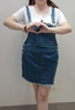 Picture of Fashionable Denim Strap Dress