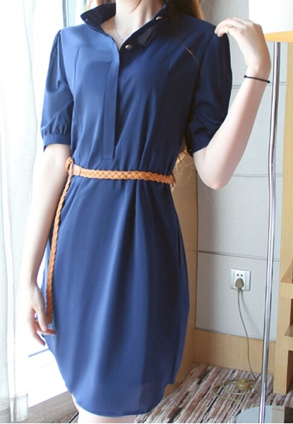 Picture of Short Sleeve  Chiffon Tunic