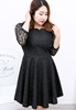 Picture of Plus Size Long Sleeve Lace Dress