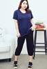 Picture of Plus Size V neck Tee with Pockets