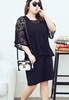 Picture of Large Size Lace Smock Top