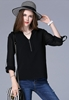 Picture of Plus Size V neck Chiffon Top