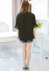 Picture of Plus Size Bat Lace Border Sleeve Chiffon Top
