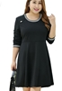 Picture of Plus Size Long Sleeve Flare Dress
