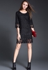 Picture of Elegan three quater Sleeve Lace Dress