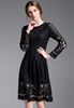 Picture of Long Sleeve Black Party Dress