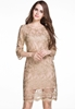 Picture of OL ½ Sleeve Embroidery Lace Pencil Dress