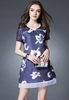 Picture of Printed Flower Short Sleeve Dress
