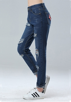 Picture of Fashion Relaxed Cropped Jeans