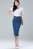 Picture of Raw Hem Midi Skirt