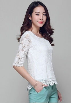 Picture of Hollow Lace Top