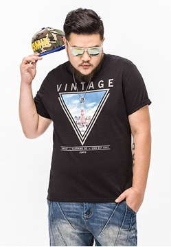Picture of Vintage Print Mens Big Size Tee
