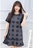 Picture of (2pcs)Prints Sleeveless Plus Hollow Lace Dress