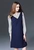 Picture of Stripe Ribbon Sleeve Dress