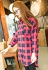 Picture of Lattice 3/4 sleeve long shirt