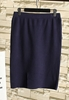 Picture of Slim front split knitted skirt