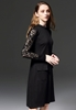 Picture of Lace long sleeve OL dress with fake pockets
