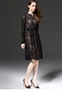 Picture of Long sleeve slim waist lace dress