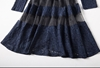 Picture of Organza stitching long sleeve lace dress