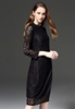 Picture of Chiffon collar long sleeve lace dress