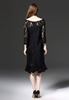 Picture of Elegant fish tail lace sleeve dress