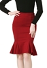 Picture of Ladies Plus Size Wrap Bottom Slim Skirt