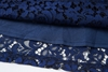 Picture of Transparent Shoulder Blue Lace Dress