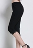 Picture of Elastic Waist Slim Lace Border 3/4 Pants