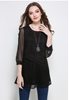 Picture of Suede Stitch Chiffon Blouse
