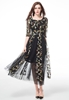Picture of Embroidery Flower Lace Dress