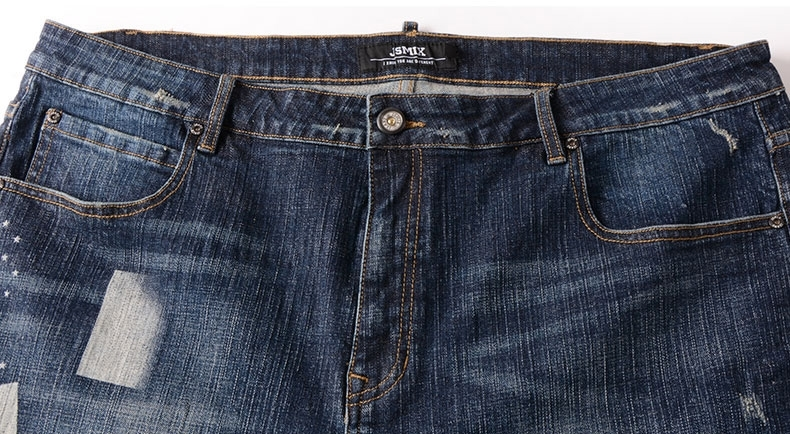 Picture of Big Size Mens Washed Denim Shorts