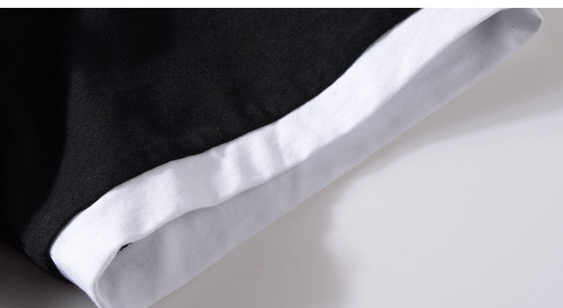 Picture of White Border Round Collar Mens T-shirt
