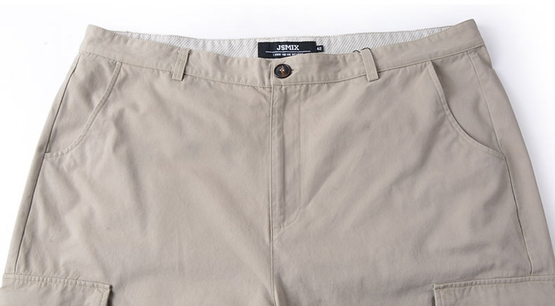 Picture of Back and Side Pockets Plus Size Mens Shorts