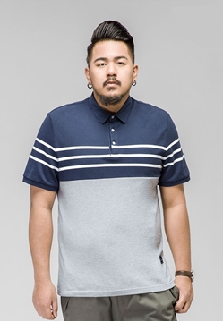 Picture of Front Strip Mens Big Size POLO Shirt