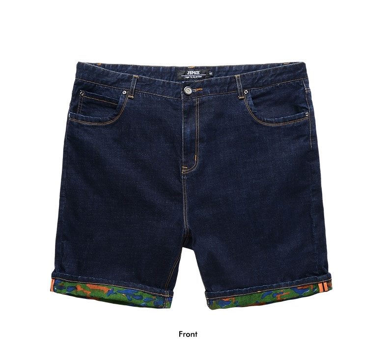 Picture of Flower Border Mens Big Size Denim Shorts