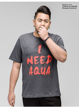 "Picture of ""I Need Aqua"" Plus Size Mens T-Shirt"