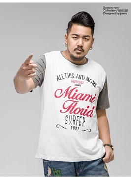 "Picture of ""Miami Florid"" Plus Size Mens T-shirt"
