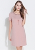 Picture of Beads Decorated Short Sleeve OL Dress