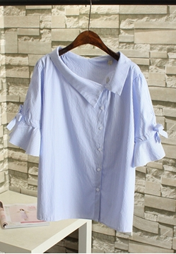Picture of Lotus Sleeve Ribbon Sleeve Shirt