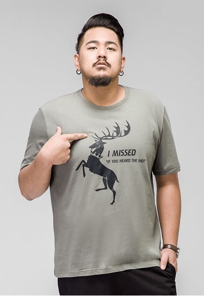 Picture of Deer Prints Mens Plus Size T-Shirt